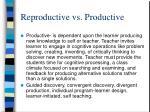reproductive vs productive1