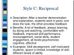style c reciprocal