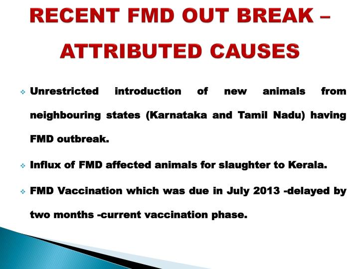 an introduction to the foot and mouth disease fmd Foot-and-mouth disease foot-and-mouth disease (fmd) is a severe, highly contagious viral disease the fmd virus causes illness  bluetongue, bovine viral diarrhea, foot rot in cattle, and swine vesicular disease the only way to tell if  there is always a chance of its introduction into the united states consequently, many animals.