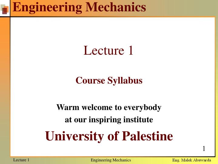 engineering mechanics n.