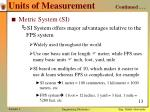 units of measurement continued1