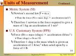 units of measurement continued2