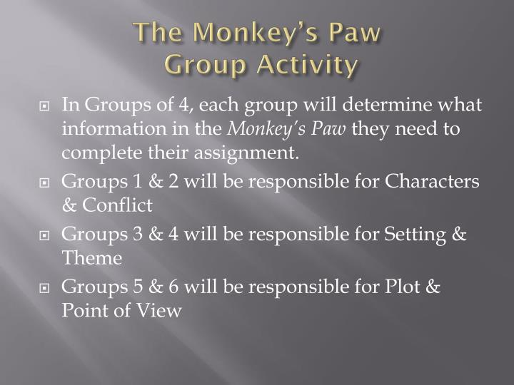 conflict of the monkeys paw