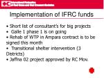 implementation of ifrc funds