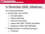 in november 2005 maldives