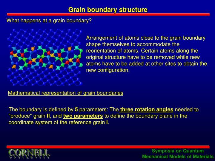 Grain boundary structure