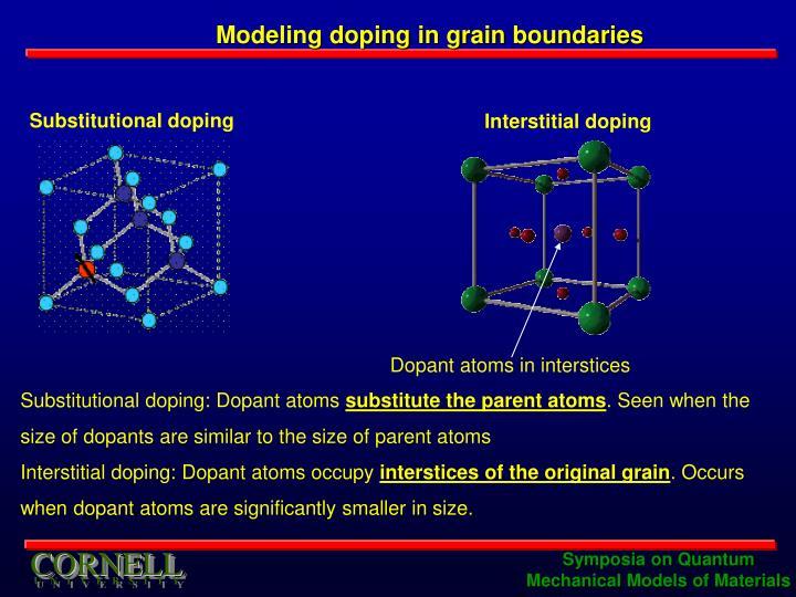 Modeling doping in grain boundaries