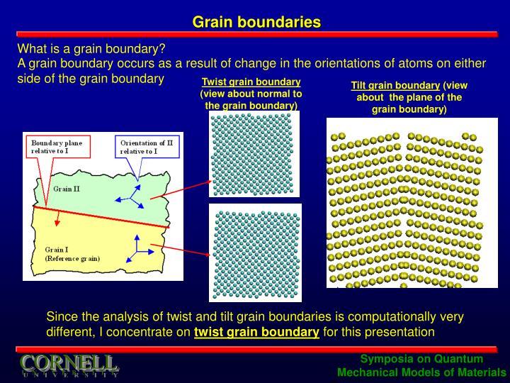 Grain boundaries