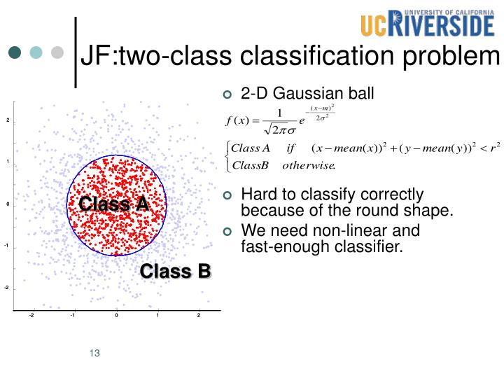 JF:two-class classification problem