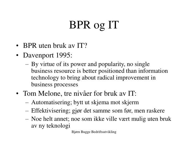 BPR og IT