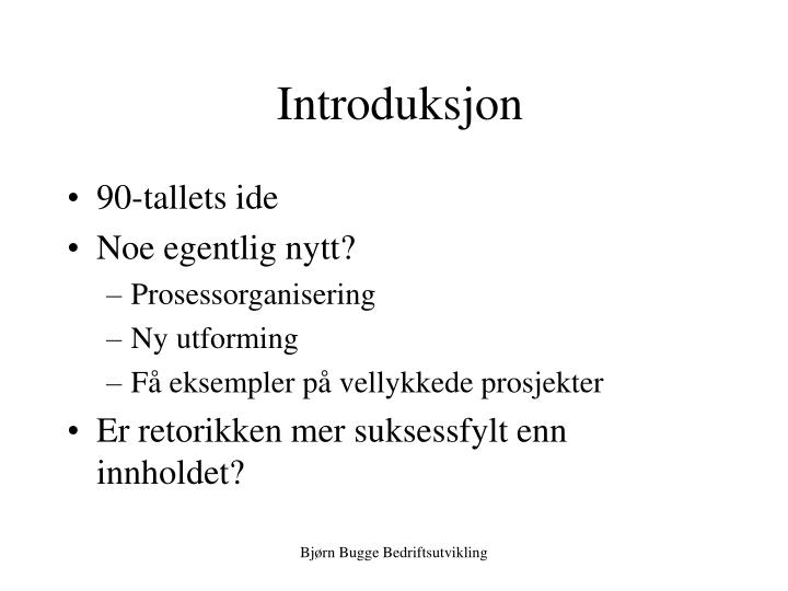 Introduksjon