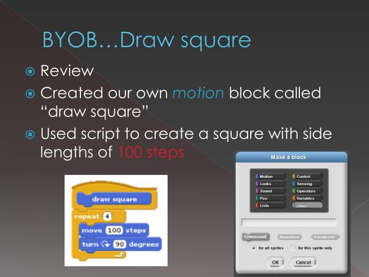 Byob draw square
