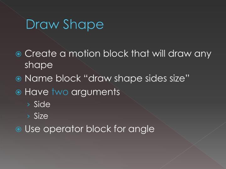 Draw Shape