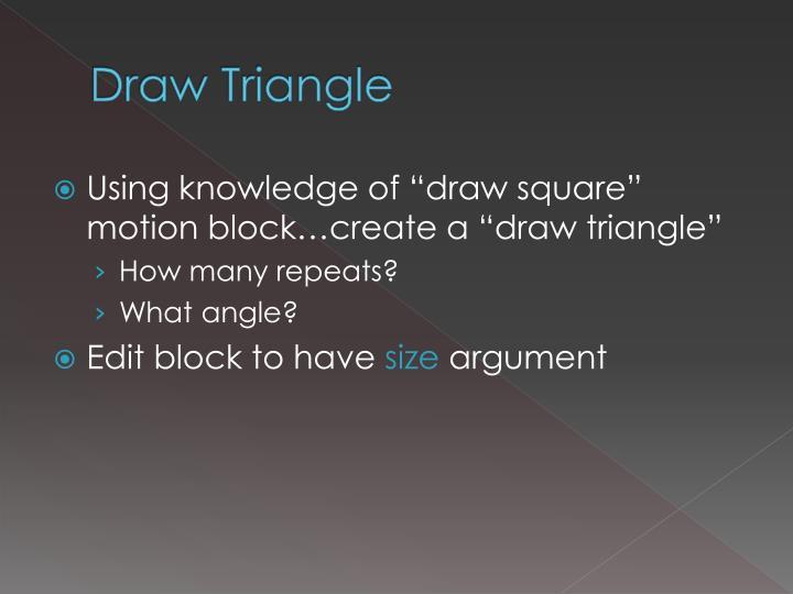 Draw Triangle