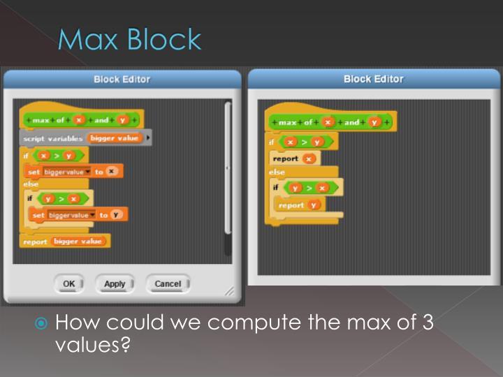 Max Block