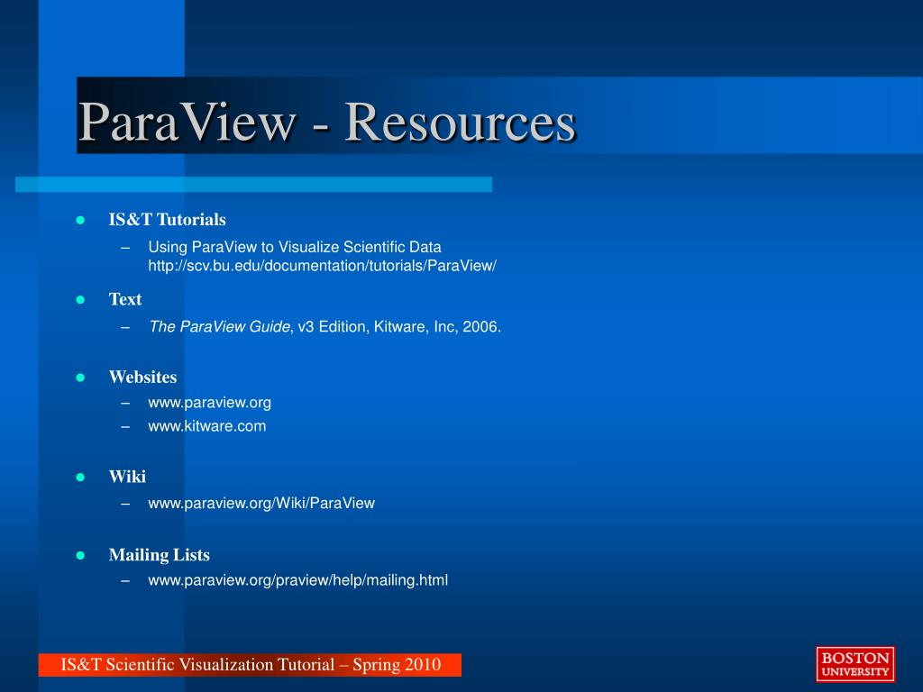 PPT - VTK & ParaView PowerPoint Presentation - ID:3762009