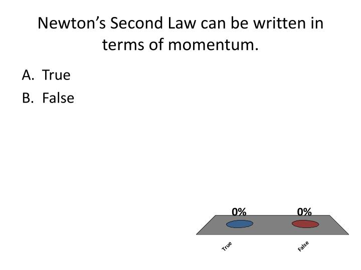 newton s second law can be written in terms of momentum n.