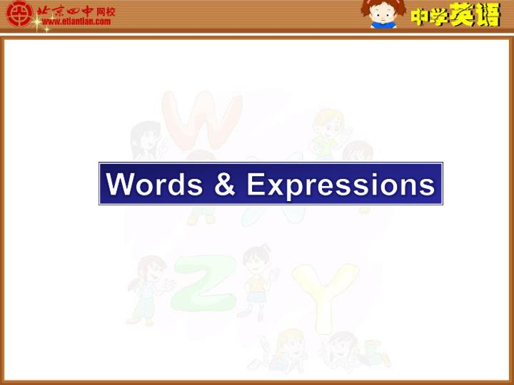 Words & Expressions