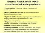 external audit laws in oecd countries their main provisions