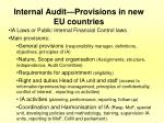 internal audit provisions in new eu countries