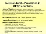internal audit provisions in oecd countries