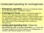 unallocated spending for contingencies