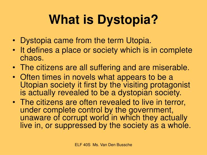 parallels in dystopian literature essay
