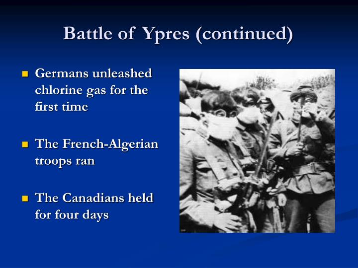 Battle of Ypres (continued)
