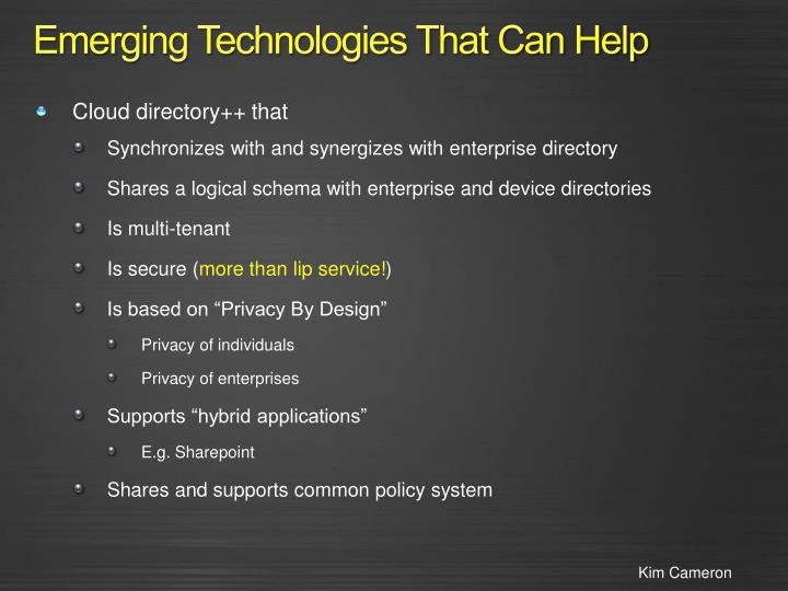 Emerging Technologies That Can Help