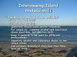 interviewing island professionals2