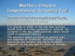 martha s vineyard comprehensive screening tool1