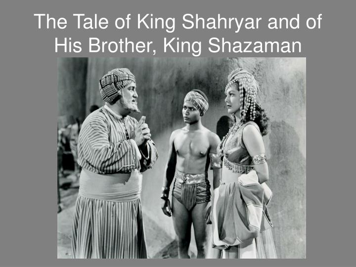 king shahryar and his brother