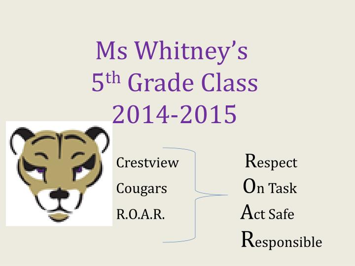 Ms Whitney's