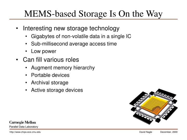 MEMS-based Storage Is On the Way