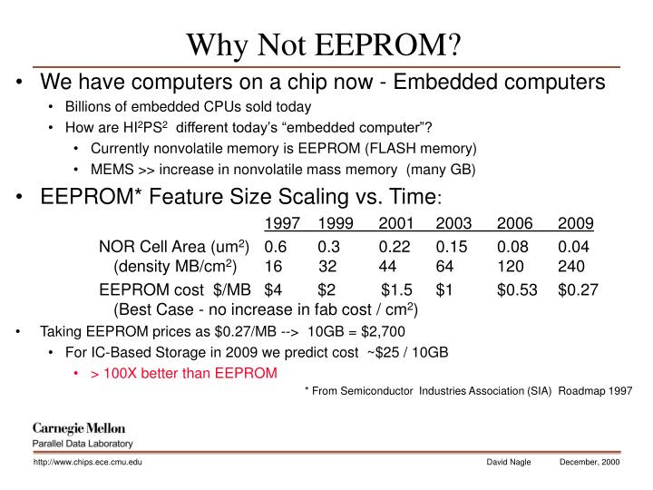 Why Not EEPROM?