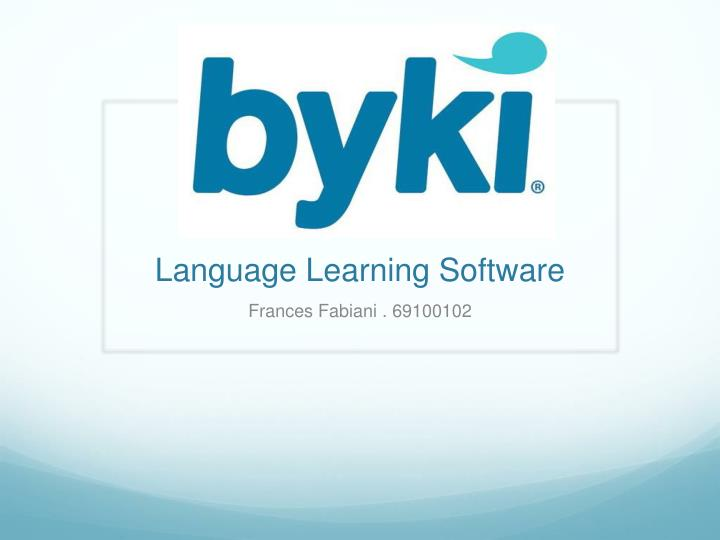language learning software n.