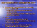 recommended methodology