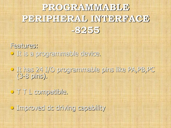 Ppt programmable peripheral interface 8255 powerpoint programmable peripheral interface 8255 ccuart Choice Image