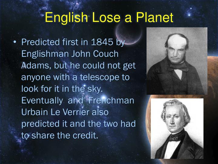 English Lose a Planet