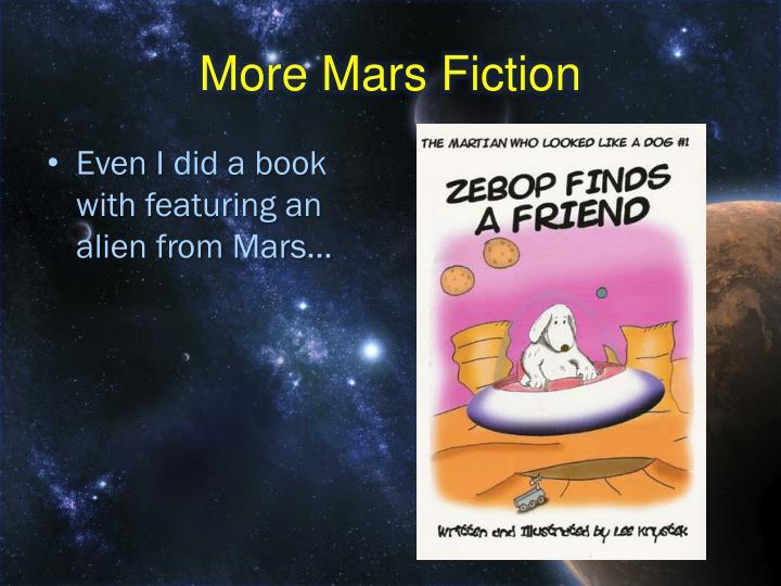 More Mars Fiction