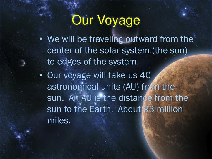 Our voyage
