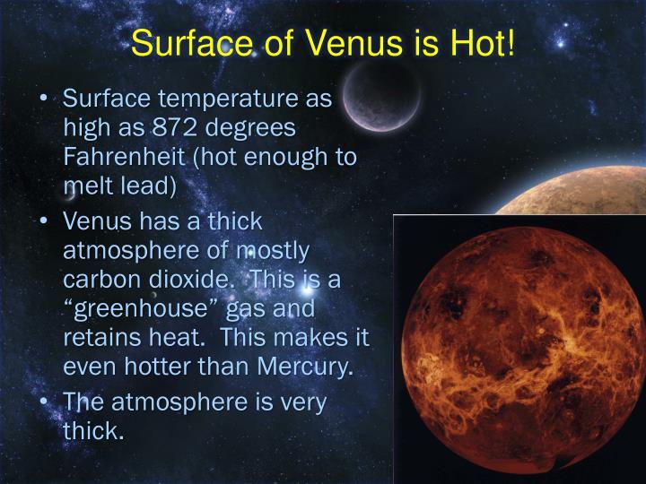 Surface of Venus is Hot!