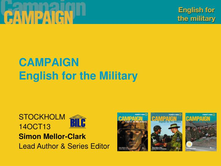 campaign english for the military n.