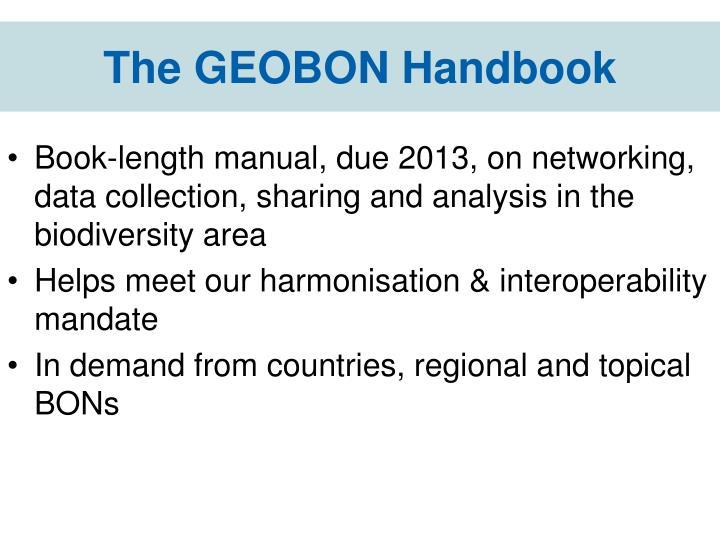 The GEOBON Handbook