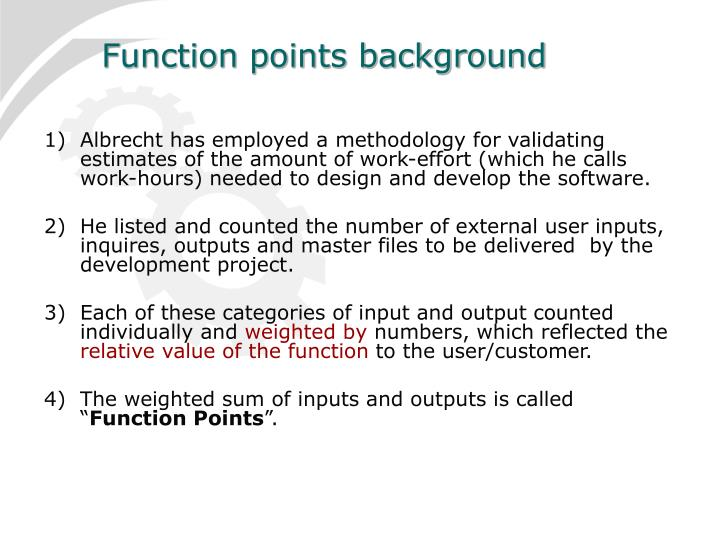 Function points background
