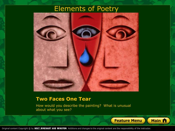 two faces one tear