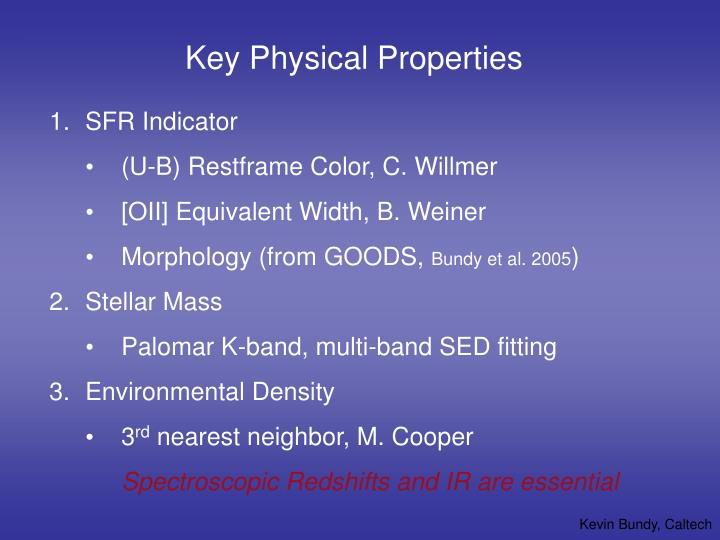 Key Physical Properties