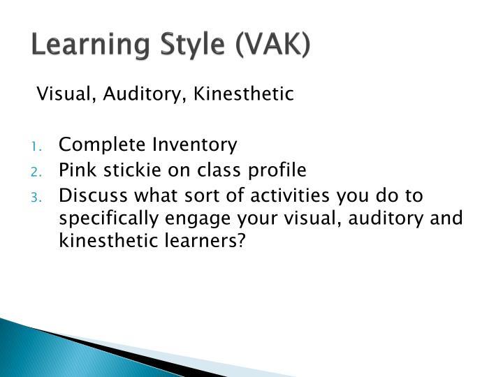 Learning Style (VAK)