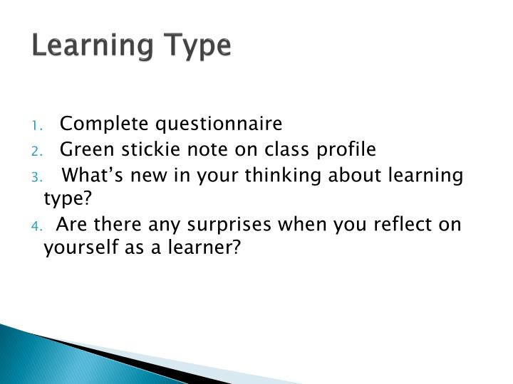 Learning Type