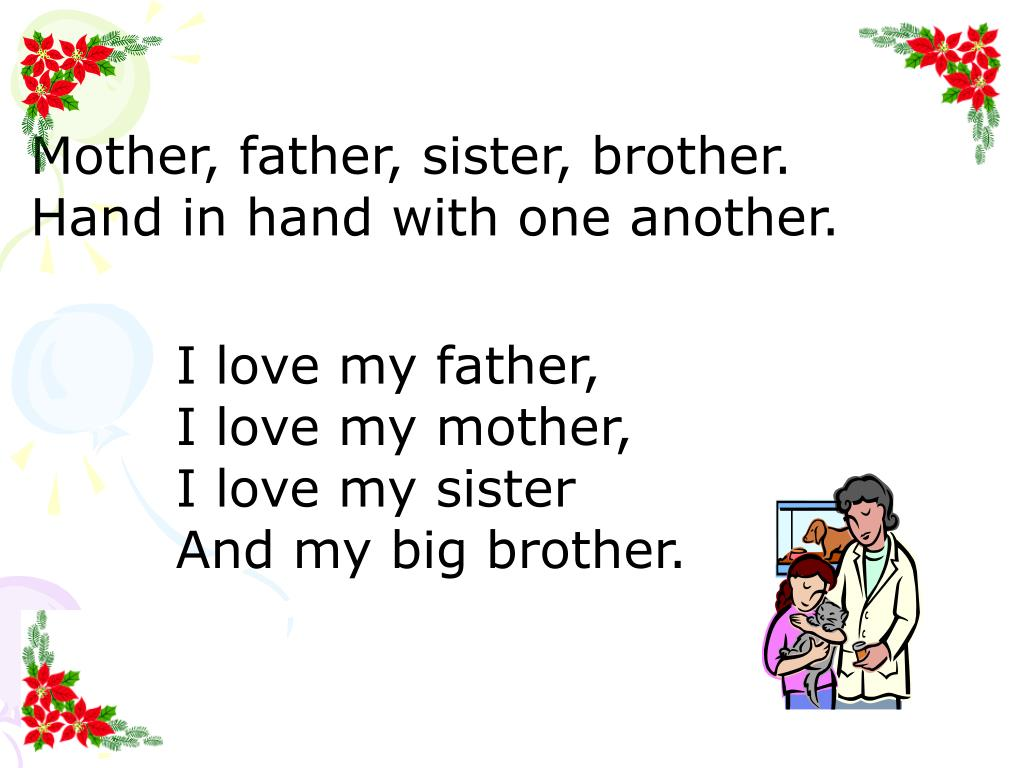Ppt Mother Father Sister Brother Hand In Hand With One Another